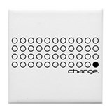 Obama 44 &quot;change.&quot; Tile Coaster