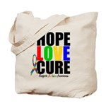 HopeLoveCure Autism Tote Bag