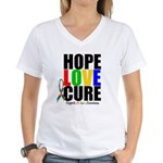 HopeLoveCure Autism Women's V-Neck T-Shirt