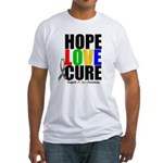 HopeLoveCure Autism Fitted T-Shirt