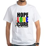 HopeLoveCure Autism White T-Shirt