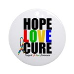 HopeLoveCure Autism Ornament (Round)