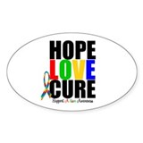 HopeLoveCure Autism Oval Sticker (10 pk)