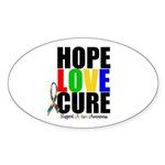 HopeLoveCure Autism Oval Sticker (50 pk)