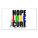 HopeLoveCure Autism Rectangle Sticker 50 pk)