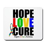 HopeLoveCure Autism Mousepad
