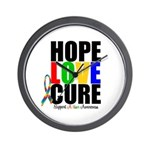 HopeLoveCure Autism Wall Clock