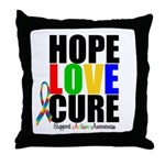 HopeLoveCure Autism Throw Pillow