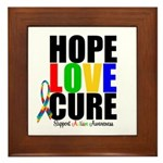 HopeLoveCure Autism Framed Tile