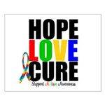 HopeLoveCure Autism Small Poster