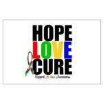 HopeLoveCure Autism Large Poster