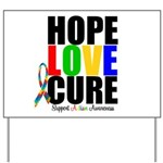 HopeLoveCure Autism Yard Sign