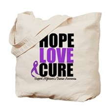 HopeLoveCure Alzheimer's Tote Bag