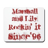 Marshall and Lily Rockin it S Mousepad