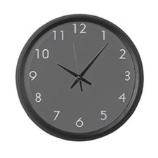Gray Large Wall Clock