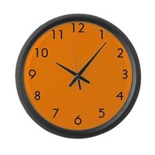 Large Orange Wall Clock