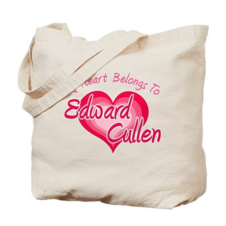 Edward Cullen Heart Tote Bag