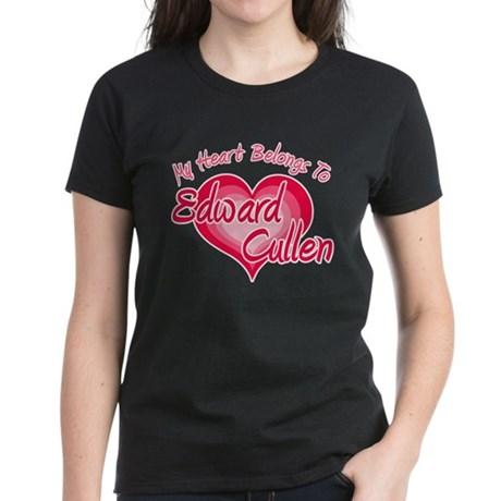 Edward Cullen Heart Women's Dark T-Shirt