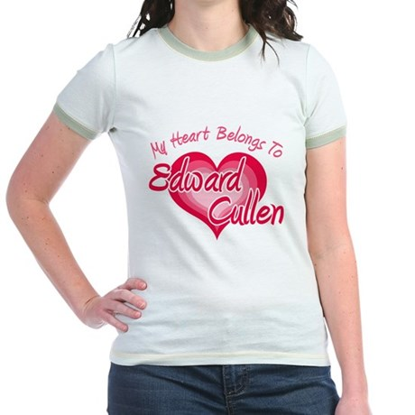 Edward Cullen Heart Jr. Ringer T-Shirt