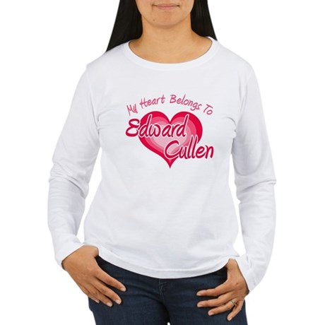 Edward Cullen Heart Women's Long Sleeve T-Shirt