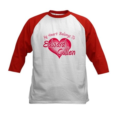 Edward Cullen Heart Kids Baseball Jersey