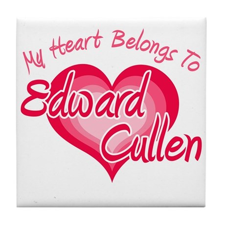 Edward Cullen Heart Tile Coaster