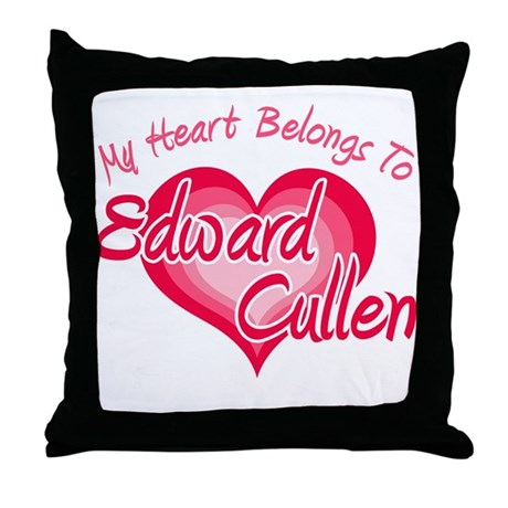 Edward Cullen Heart Throw Pillow