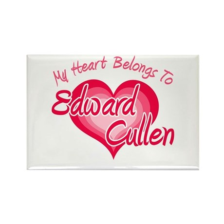 Edward Cullen Heart Rectangle Magnet