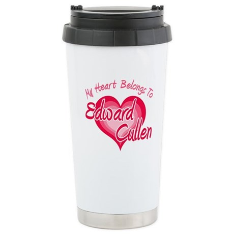 Edward Cullen Heart Ceramic Travel Mug