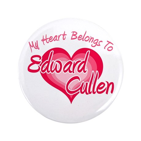 "Edward Cullen Heart 3.5"" Button"