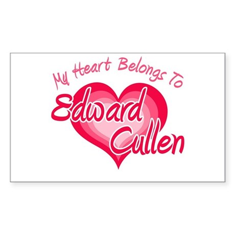 Edward Cullen Heart Rectangle Sticker 10 pk)