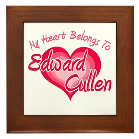 Edward Cullen Heart Framed Tile