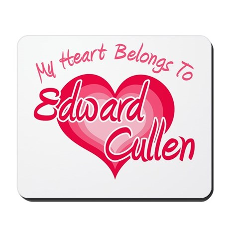 Edward Cullen Heart Mousepad