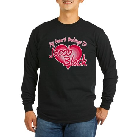 Heart Jacob Black Long Sleeve Dark T-Shirt