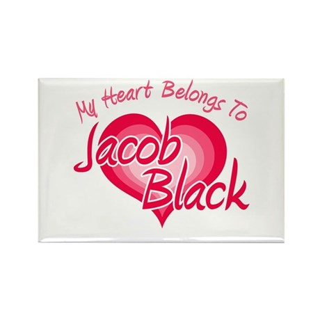 Heart Jacob Black Rectangle Magnet