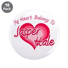 "Heart Jasper Hale 3.5"" Button (10 pack)"