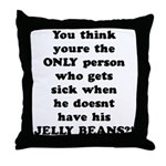 Jelly Beans Throw Pillow