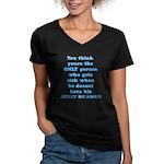 Jelly Beans Women's V-Neck Dark T-Shirt