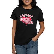 Emmett Cullen Heart Women's Dark T-Shirt