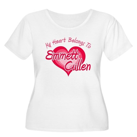 Emmett Cullen Heart Women's Plus Size Scoop Neck T