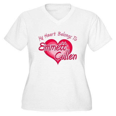 Emmett Cullen Heart Women's Plus Size V-Neck T-Shi
