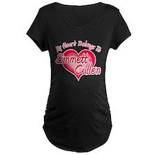 Emmett Cullen Heart Maternity Dark T-Shirt
