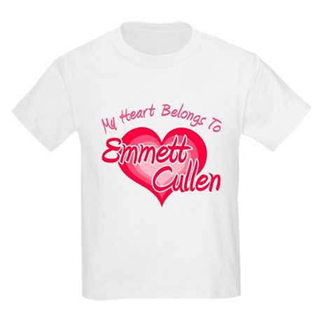 Emmett Cullen Heart Kids Light T-Shirt