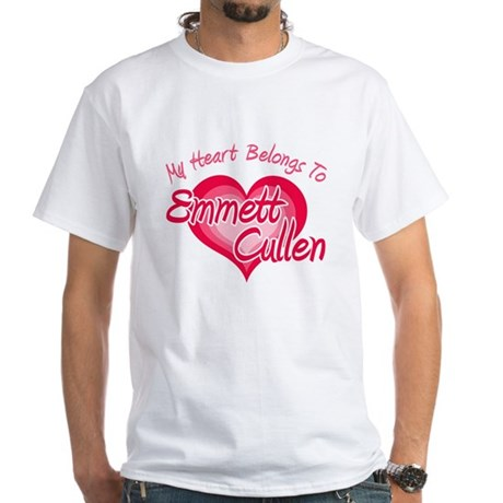 Emmett Cullen Heart White T-Shirt