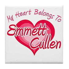 Emmett Cullen Heart Tile Coaster
