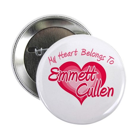 "Emmett Cullen Heart 2.25"" Button"