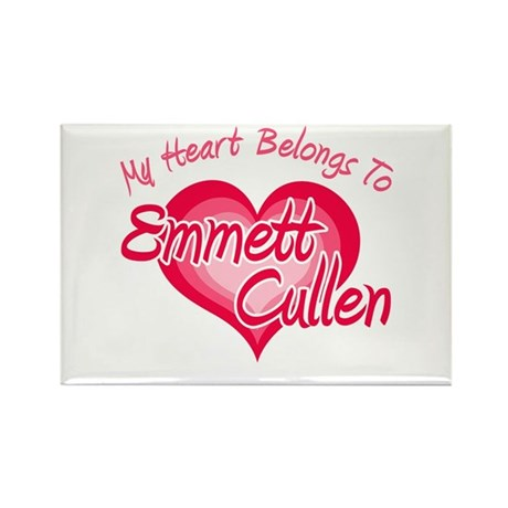 Emmett Cullen Heart Rectangle Magnet