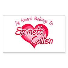 Emmett Cullen Heart Rectangle Sticker