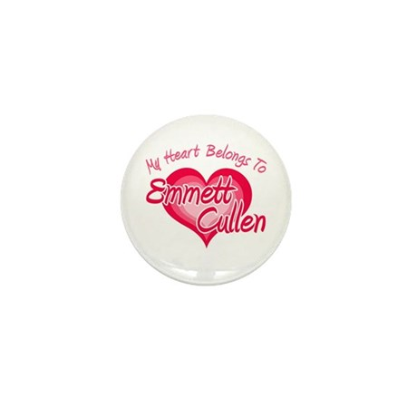 Emmett Cullen Heart Mini Button