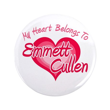 "Emmett Cullen Heart 3.5"" Button"